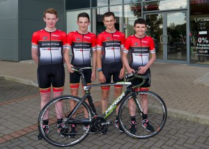Pictured here in their custom Junior Tour emblazoned speedwear kit supplied by Onimpex Bioracer.